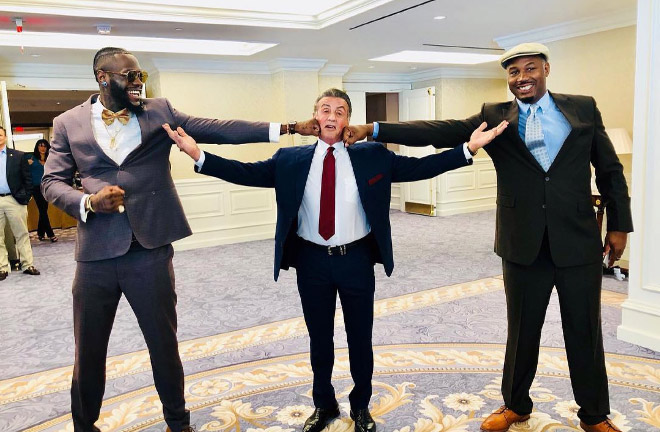 Lennox Lewis and Deontay Wilder were in DC for pardoning of Jack Johnson who was wrongfully convicted of violating