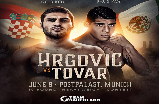 Hrgović returns on June 9 to face the undefeated Tovor in Munich. Photo Credit: Team Sauerland