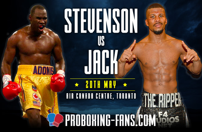 Adonis Stevenson vs. Badou Jack, Saturday, May 19 2018, Air Canada Centre, Toronto.