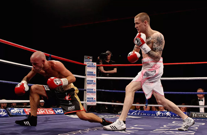 Ricky Burns won a TKO-1 today over Nicky Cook. Photo Credit: Bad Left Hook