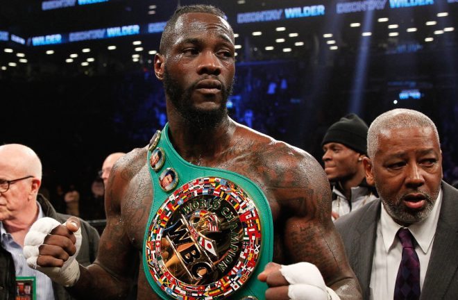 Wilder is happy to fight Joshua in the UK. Photo Credit: Telegraph
