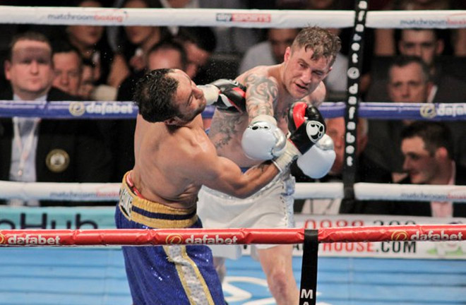 Ricky Burns makes history, against Di Rocco. Photo Credit: The Ring