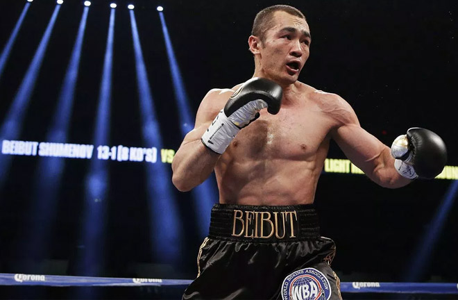 Two-division WBA world champion Beibut Shumenov's ring return . Photo Credit: HitHardNews