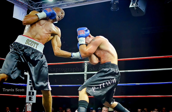 Travis Scott Defeats Taronze Washington to Win WFC Middleweight Title. Photo Credit: The Boxing Voice