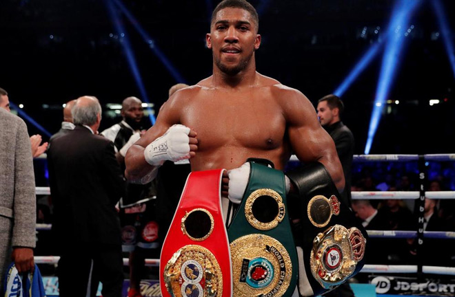 Joshua is the IBF, WBA and WBO heavyweight champion. Photo Credit: The National
