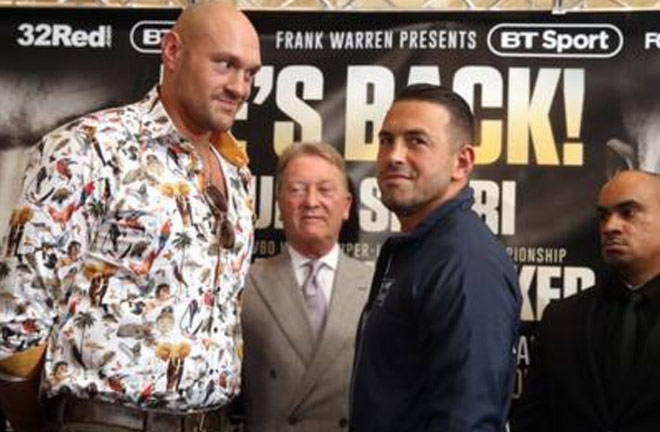 Fury-Seferi face off. Photo Credit: BBC