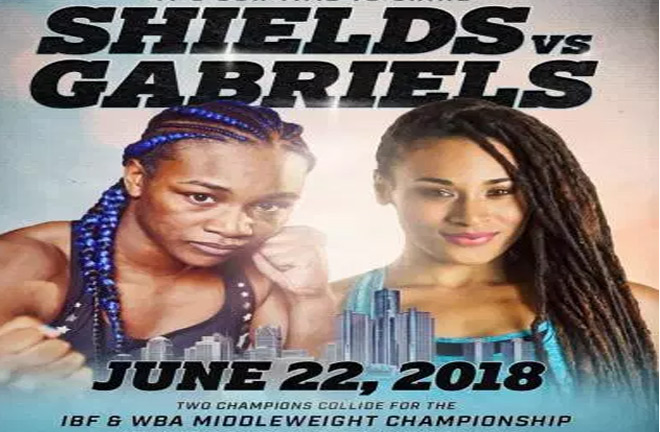 Two champions Claressa Shields and Hanna Gabriels collide for the IBF and WBA middleweight championship. Photo Credit: Woman of boxing