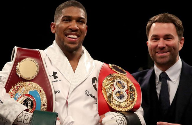 Eddie Hearn is confident a fight with Wilder will be agreed. Photo Credit: SkySports