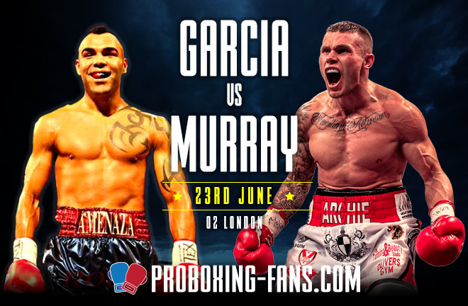 Garcia-Murray go head to head this Saturday night at The O2.