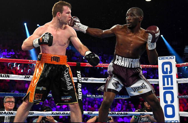 Crawford dominated Horn throughout the fight.
