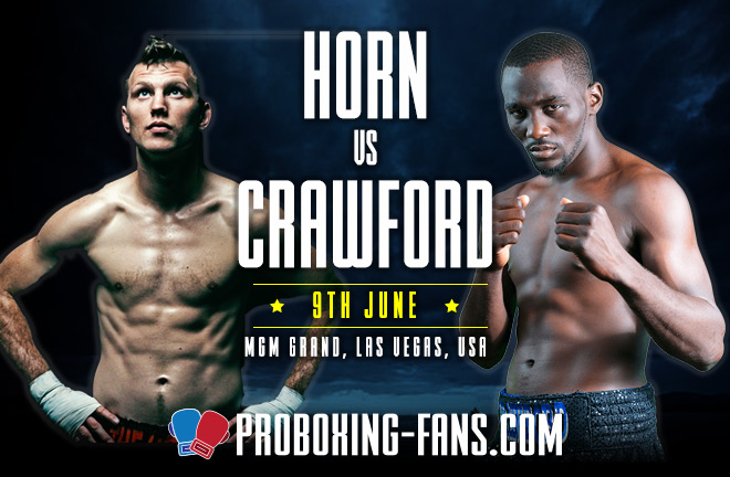 Crawford makes his debut at 147 pounds against WBO champion Horn