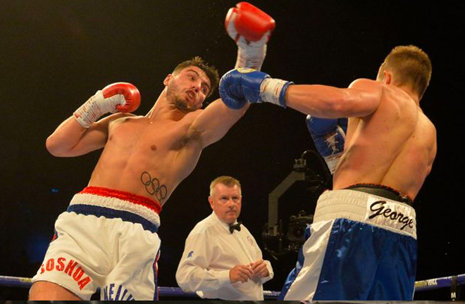 Josh Kelly landed several body shots but, despite his continuous admirable work, George showed few signs of being hurt.