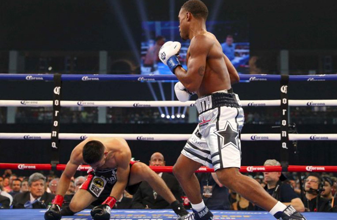 Errol Spence Jr. makes quick work of Carlos Ocampo with first round KO