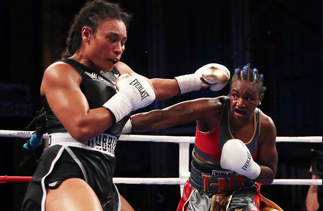 Claressa Shields gets knocked down, recovers to beat Hanna Gabriels