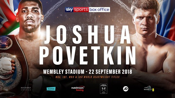 Anthony Joshua and Alexander Povetkin to fight on September 22nd. Photo Credit: Boxing News