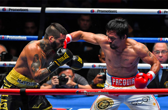 Manny Pacquiao comes back on Saturday night with a seventh round TKO over Lucas Matthysse.