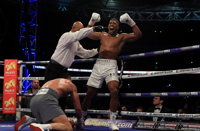 Joshua stopped Klitschko last time at Wembley. Photo Credit: Mirror