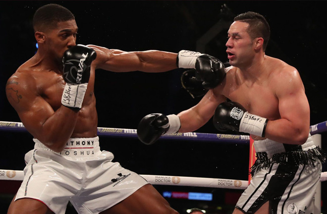 Joshua went the full distance for the first time against Parker. Photo Credit: Sky Sports