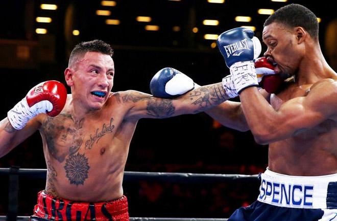 Vargas: Khan chin is weak. Photo Credit: Sky Sports