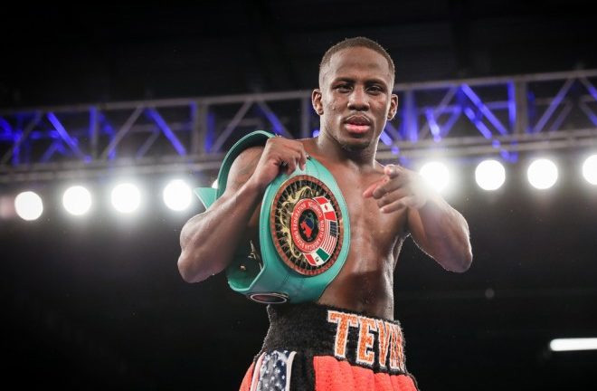 Tevin farmer signs multi-fight co-promotional deal with DiBella Entertainment and Matchroom Boxing USA. Photo Credit: Round By Round Boxing
