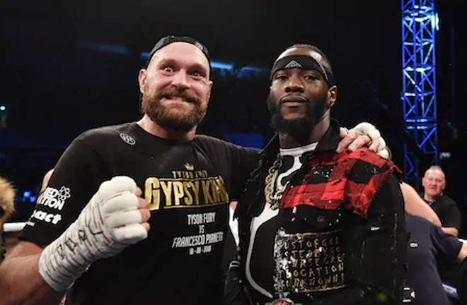 Wilder confronted Fury after his victory over Pianeta in Belfast. Photo Credit: The Telegraph