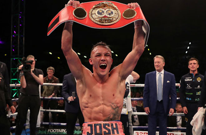 Josh Warrington after his well deserved victory against rival Lee Selby. Photo Credit: The Ring Magazine