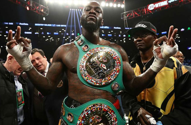 Wilder: Joshua doesn't want it. Photo Credit: Sporting News