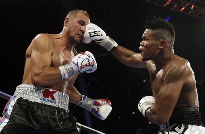 Sergey Kovalev stunning KO loss to Eleider Alvarez in Atlantic City. Photo Credit: Guardian
