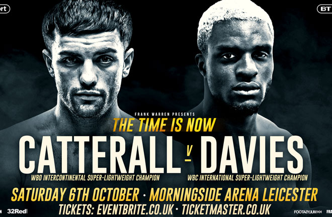 Davies: I will not trash big fight rival Jack Catterall. Photo Credit: Frank Warren