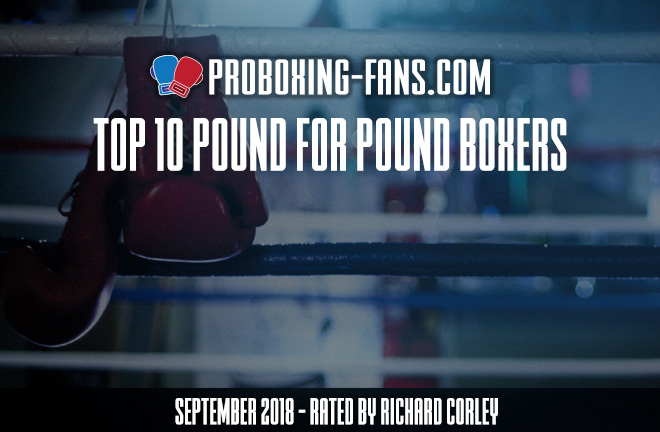 September top 10 Pound For Pound boxers.