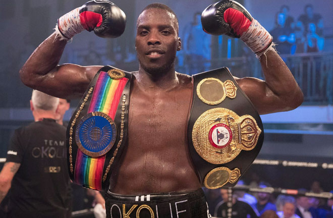 Okolie blasts Luke Watkins away in the third round to win the Commonwealth title. Photo Credit: World Report