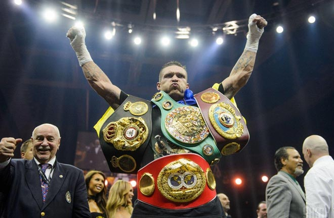 Usyk recently became undisputed cruiserweight champion after defeating Murat Gassiev. Photo Credit: Unian