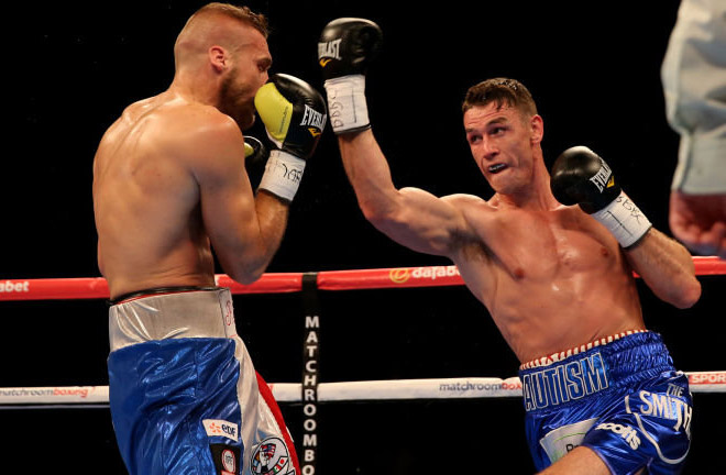 Callum Smith claimed a points win over Christopher Rebrasse back in 2015. Photo Credit: SkySports