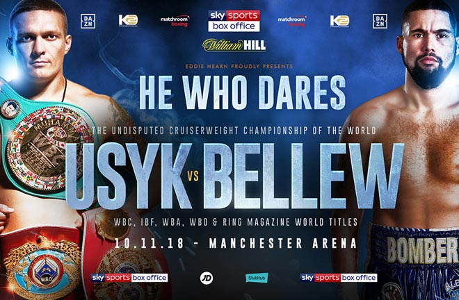 Confirmed Alexander Usyk will take on Tony Bellew on November 10 at the Manchester Arena. Photo Credit: Matchroom Boxing