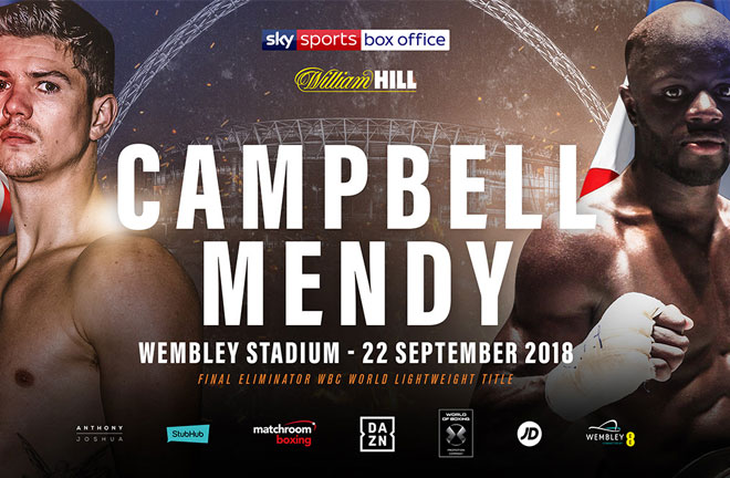 Campbell-Mendy go head to head this Saturday night. Photo Credit: Matchroom Boxing