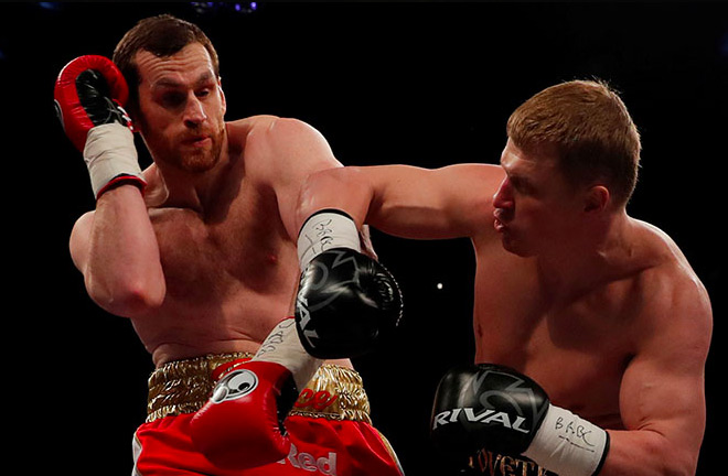Alexander Povetkin in action against Cedric Boswell.