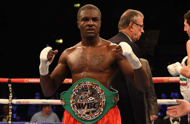 Ohara Davies produced an impressive KO of Paul Kumanga to secure WBC title. Photo Credit: GiveMeSport