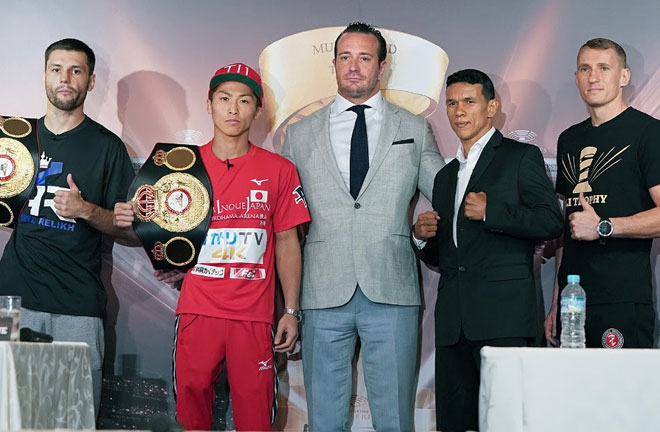 Naoya Inoue and Juan Carlos Payano are ready for their Ali Trophy Quarter-Final and WBA 'Regular' World Bantamweight Championship clash on Sunday. Photo Credit: Naoki Fukuda