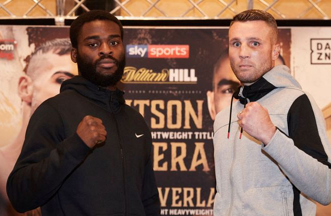 Joshua Buatsi and Tony Averlant face off ahead of their fight this weekend. Photo Credit: Sky Sports