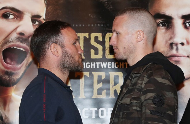 Foot-Davies face off ahead of their fight this Saturday night in Newcastle. Photo Credit: PUNCH-LINES