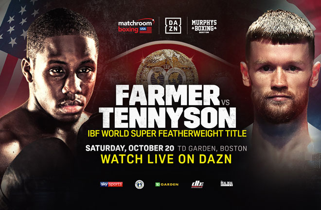 Farmer-Tennyson fight this Saturday night. Photo Credit: Matchroom Boxing