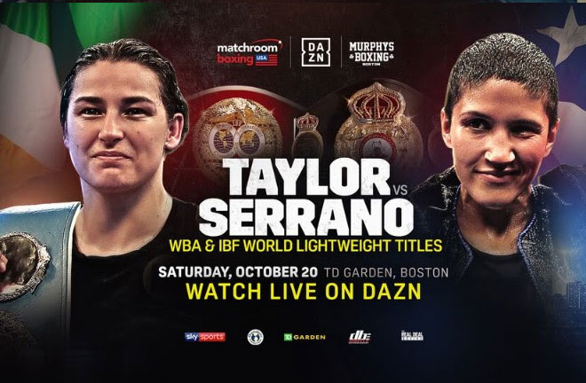 Taylor defends her titles against Cindy Serrano at the TD Garden this Saturday. Photo Credit: Matchroom Boxing