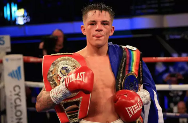 Lee McGregor with his Commonwealth bantamweight belt. Picture: Getty