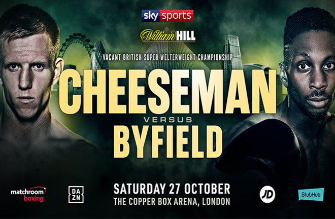 Byfield: Cheeseman won't hear the final bell. Photo Credit: Matchroom Boxing