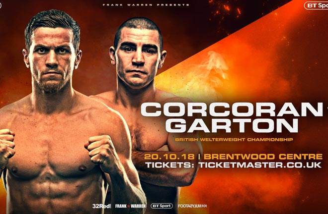 Garton: Corcoran is my type of fighter. Photo Credit: Frank Warren