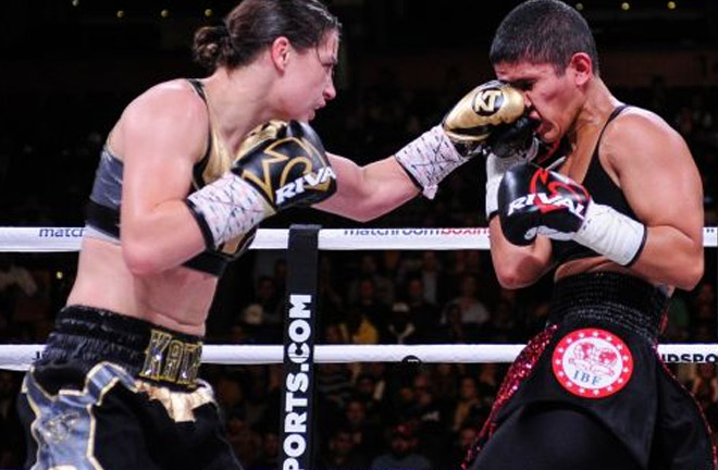 Katie Taylor defends world titles against Cindy Serrano. last Saturday. Photo Credit: The Irish Times