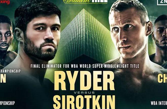Ryder v Sirotkin - Big Fight Preview & Prediction. Photo Credit: Bad Left Hook