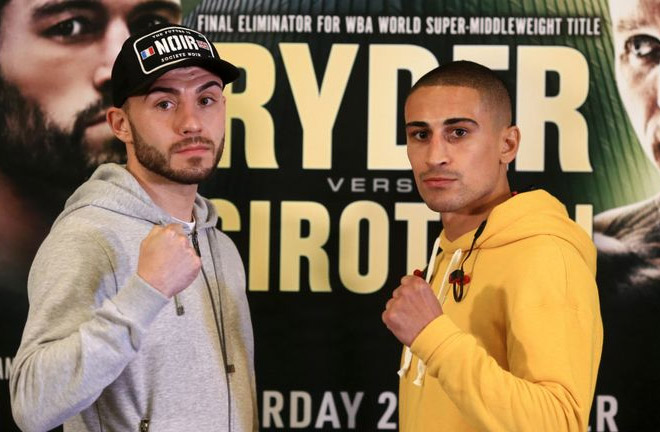 Ryan Doyle and Jordan Gill face off ahead of their fight this Saturday. Photo Credit: Sky Sports