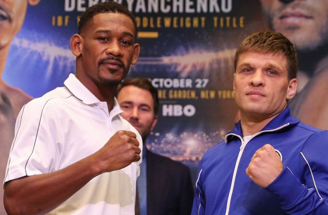 Jacobs vs Derevyanchenko go head to head this Saturday night. Photo Credit: Sky Sports
