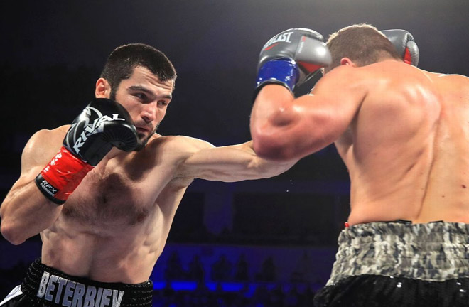 Artur Beterbiev stopped Enrico Koelling, to win light heavyweight title. Photo Credit: ESPN.com